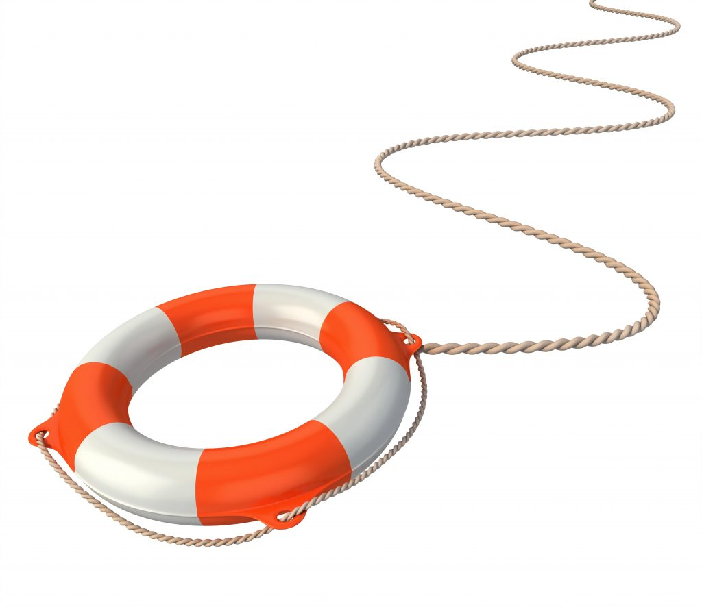 Life preserver on a rope