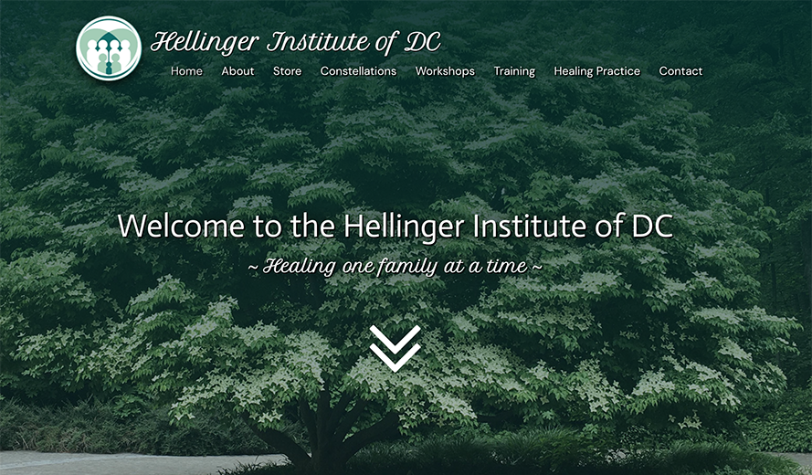 Screenshot of Hellinger Institute of DC home page