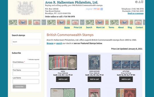 Aron R. Halberstam Philatelists, Ltd.